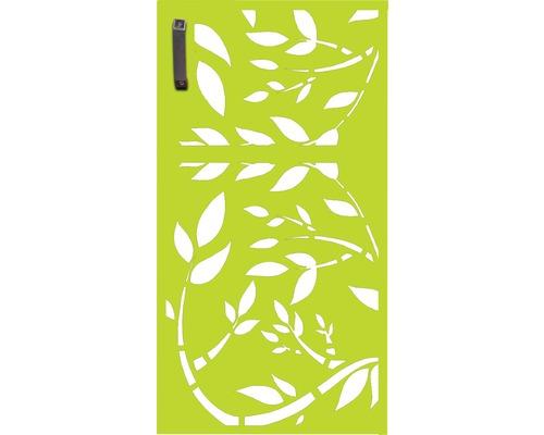 Porte pour poubelle GABIO 240l Floral 73x135 cm vert tendance