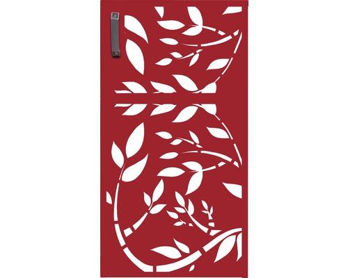 Porte pour poubelle GABIO 240l Floral 73x135 cm rouge rubis