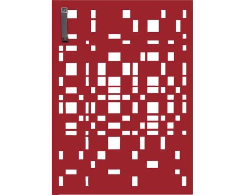 Porte pour poubelle GABIO 120l Geom 65x90 cm rouge rubis