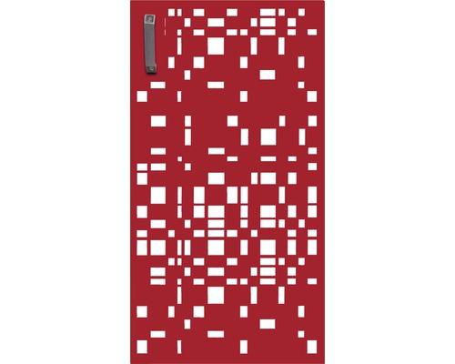 Porte pour poubelle GABIO 240l Geometrie 73x135 cm rouge rubis