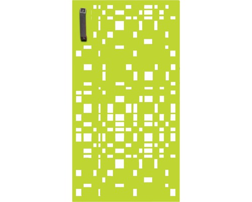 Porte pour poubelle GABIO 240l Geometrie 73x135 cm vert tendance