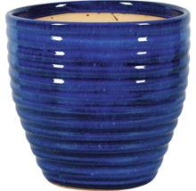 Pot de fleurs Corsica argile Ø38 x h34cm bleu-thumb-0