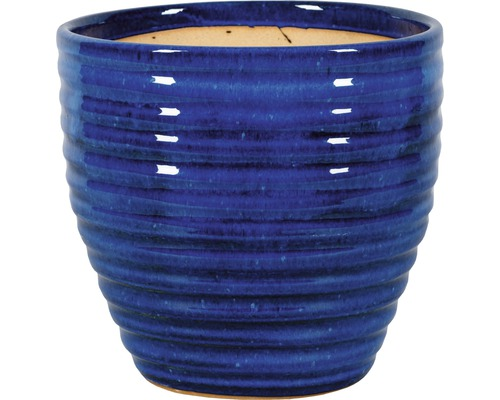Pot de fleurs Corsica argile Ø38 x h34cm bleu