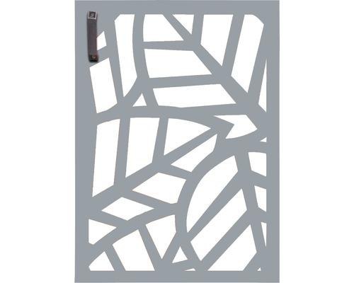 Porte pour poubelle GABIO 120l Palms 65x90 cm gris clair