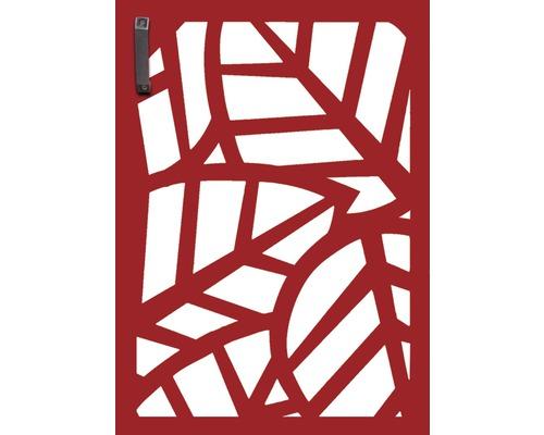 Porte pour poubelle GABIO 120l Palms 65x90 cm rouge rubis