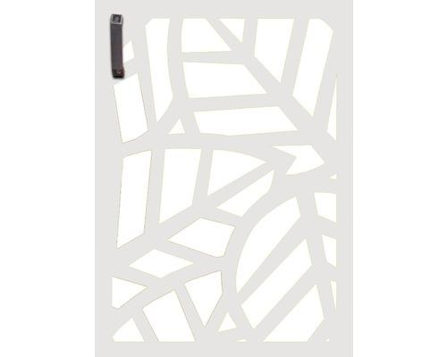 Porte pour poubelle GABIO 120l Palms 65x90 cm blanc