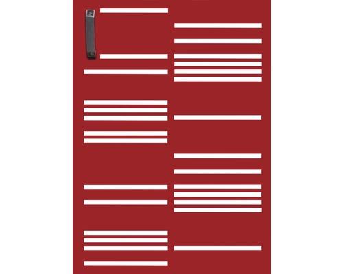 Porte pour poubelle GABIO 120l Stripes 65x90 cm rouge rubis