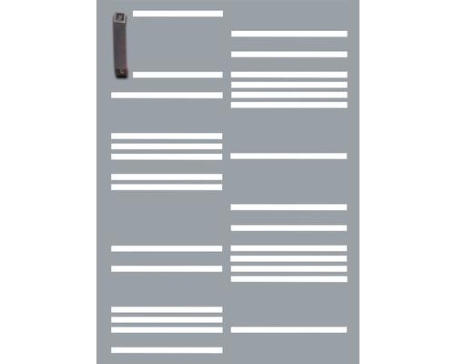Porte pour poubelle GABIO 120l Stripes 65x90 cm gris clair