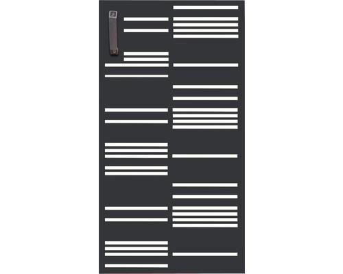 Porte pour poubelle GABIO 240l Stripes 73x135 cm anthracite