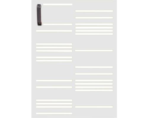 Porte pour poubelle GABIO 120l Stripes 65x90 cm blanc