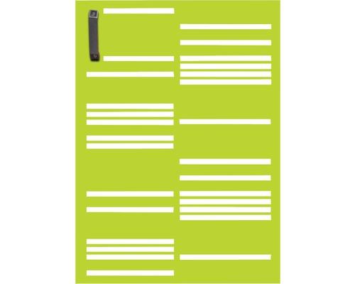 Porte pour poubelle GABIO 120l Stripes 65x90 cm vert tendance