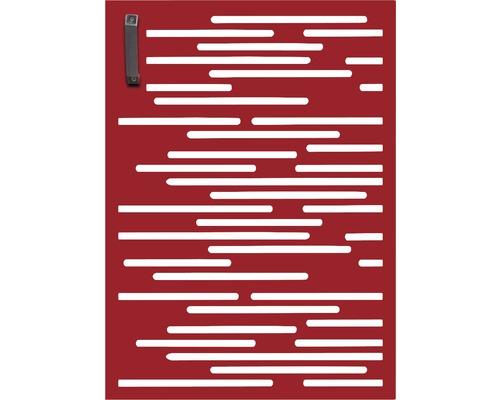 Porte pour poubelle GABIO 120l Vienna 65x90 cm rouge rubis