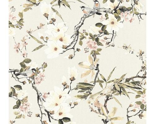 Papier peint intissé 36498-2 Michalsky 3 mésange et fleurs