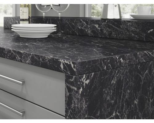 Plan De Travail De Cuisine Piccante Decor Marbre Noir 4100x600x38