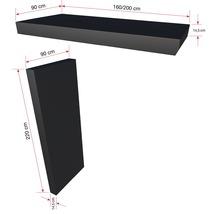 Auvent rectangulaire Gutta BS Plus 200x90 cm en anthracite, élément latéral avec boîte aux lettres gauche compris-thumb-3