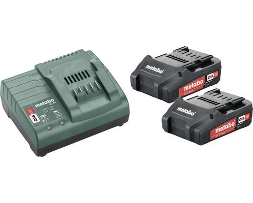Kit de batteries Metabo 18V Li-Ion (2,0 Ah)