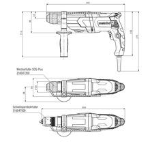 Set de marteau perforateur Metabo UHE 2660-2 Quick avec mandrin interchangeable et set de foret/burin SDS-plus 10pièces-thumb-2