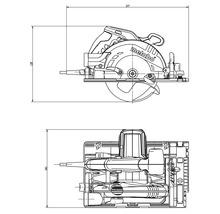 Scie circulaire portative Metabo KS 55 FS avec lame de scie 160x20mm et butée parallèle-thumb-2