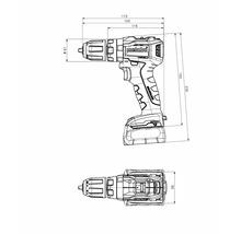 Perceuse-visseuse à choc sans fil Metabo 12V SB 12 BL, sans batterie ni chargeur-thumb-2