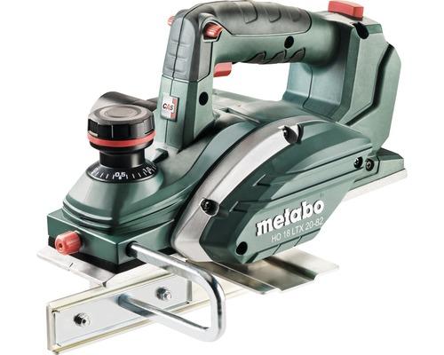 Rabot sans fil Metabo 18V HO 18 LTX 20-82, sans batterie ni chargeur, avec couteau réversible