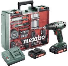 Visseuse à choc sans fil Metabo 18V atelier mobile BS 18, avec 2 batteries (2,0 Ah), chargeur et kit d''accessoires-thumb-0