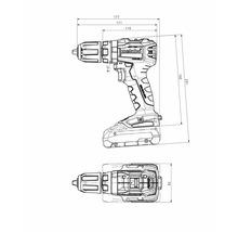 Perceuse-visseuse à percussion sans fil SB 18 L sans balais, sans batterie ni chargeur-thumb-1
