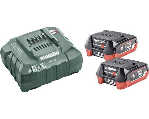 Kit de batteries Metabo 12V LiHD (4,0 Ah) Batterie + chargeur