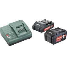Set de batteries Metabo 18V Li-Ion (2,0/4,0 Ah) batteries + chargeur-thumb-0