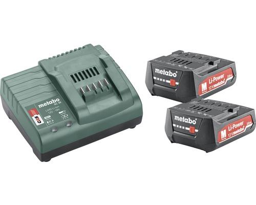 2x batteries Metabo 12V Li-Ion (2,0 Ah)