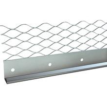 Profilé de finition à crépir en acier inoxydable 13mm, longueur: 2,50m, hauteur: 66mm, lot de 25pièces-thumb-0