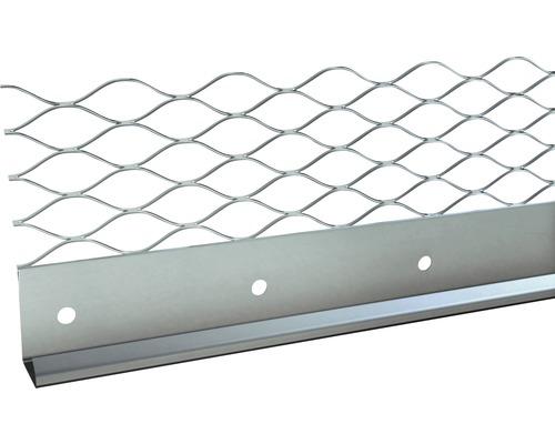 Profilé de finition à crépir en acier inoxydable 13mm, longueur: 2,50m, hauteur: 66mm, lot de 25pièces-0