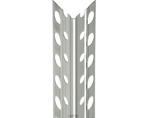 Profilé d''angle à crépir en acier inoxydable 5mm, longueur: 2,50m, lot de 25pièces-0