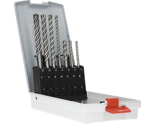 Set de forets à béton Pro Box plus-7X, 7 pces