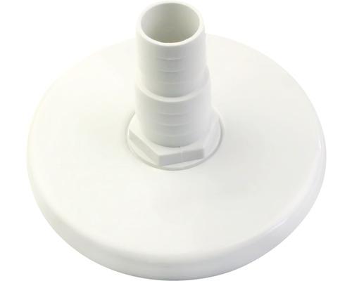 Plaque de raccordement pour aspirateur de piscine plastique blanc