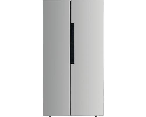 Réfrigérateur américain PKM SBS440.4A+NF SI lxhxp 83.6 x 178 x 63.6 cm compartiment de réfrigération 272 l compartiment de congélation 173 l