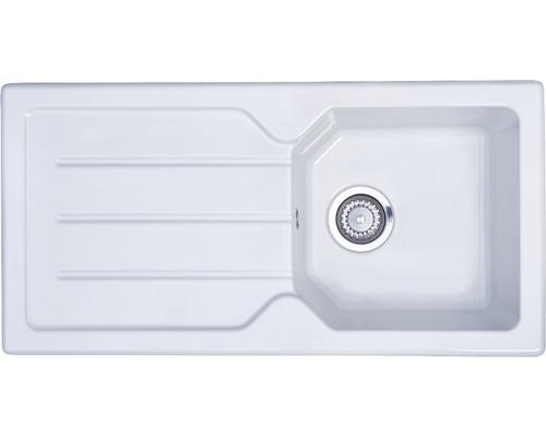 Évier encastrable PICCANTE Stella 45, céramique blanc-0
