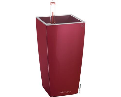 Vase Lechuza Mini Cubi rouge écarlate H 18 cm rouge