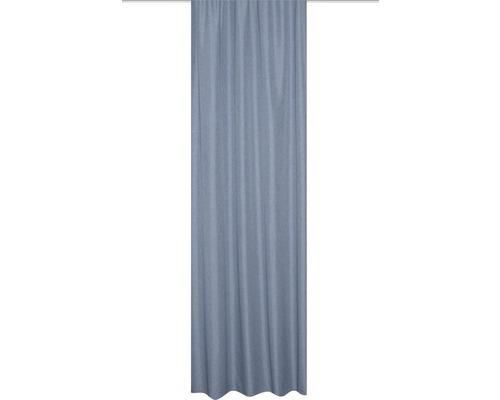 Rideau thermique avec galon fronceur bleu 135x245 cm