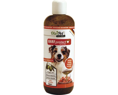 Huile d''olive OlivPet BARFprotect Dogs 400 ml