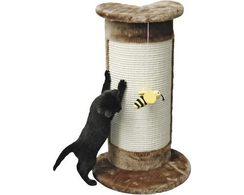 Griffoir d'angle Corner avec abeille accrochée 56x31x58cm marron