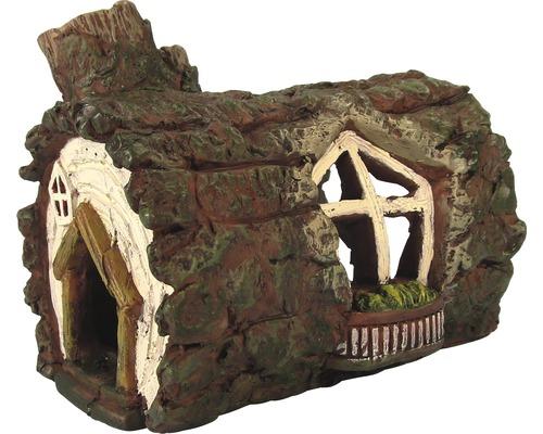 Décoration d'aquarium maison tronc d'arbre 11x8x10cm