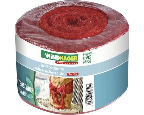 Bande de jute Windhager 25 m x 10 cm rouge