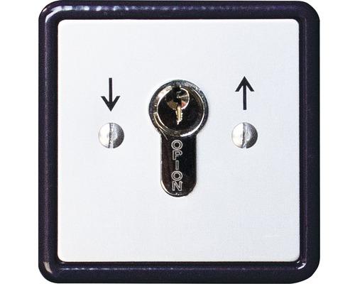 Commutateur à clé GAH Alberts montage encastré pour lecteur de portail coulissant électrique
