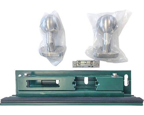 Jeu d'accessoires GAH Alberts pour portail à un vantail Mosaïque ouverture de porte électrique, gâche, garniture de boutons de porte sur les deux côtés compris