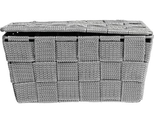 Corbeille de salle de bains avec couvercle Adria gris