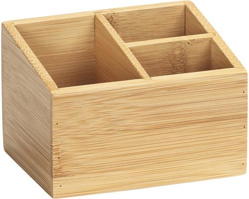 Boîte pour salle de bains avec 3compartiments Mod. Terra Bambus