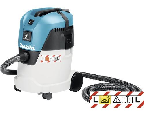 Aspirateur eau et poussière classe L Makita VC2512L avec tuyau d''aspiration 3,5m et vaste gamme d''accessoires