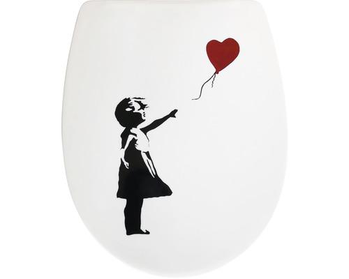 WC-Sitz ADOB Trento Roter Ballon mit Absenkautomatik