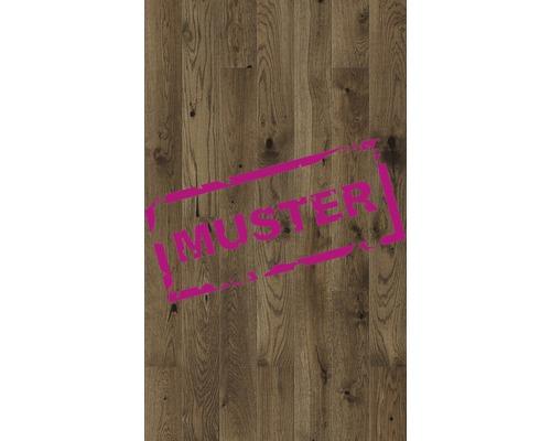 Échantillon de parquet 14.0 chêne brun plancher de maison de campagne nature huilé et brossé