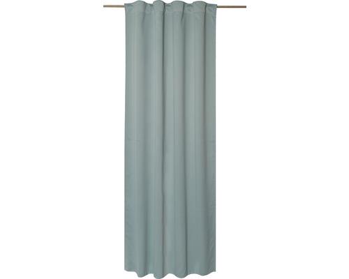 Voilage à passants tissu Midnight vert 140x255 cm-0